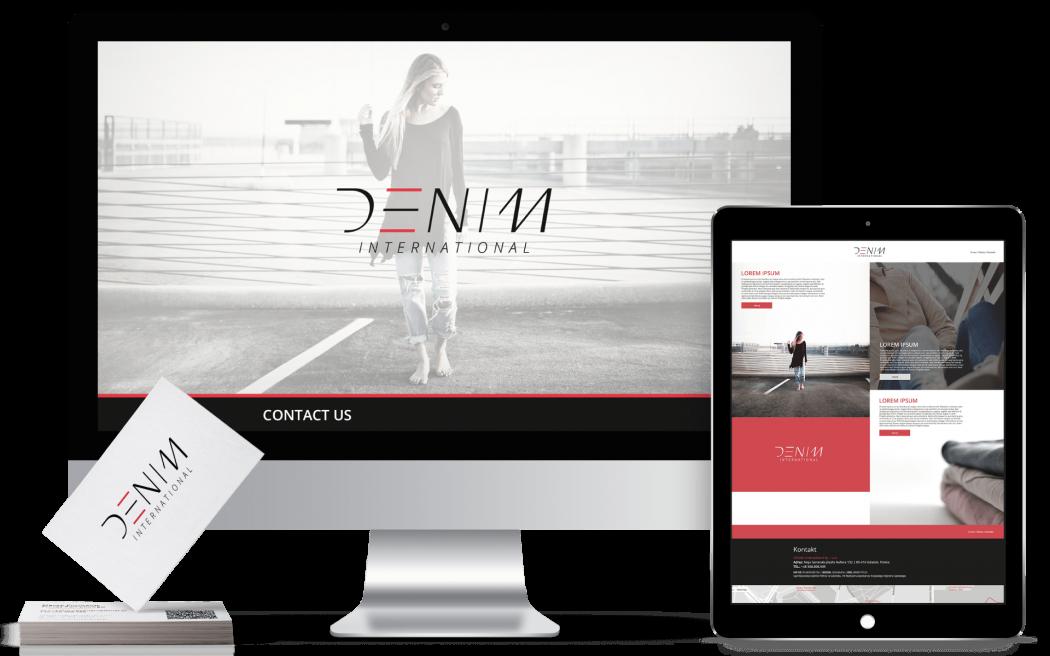 identyfikacja, logo, strona www Denim International