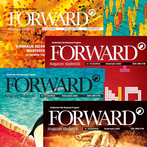 Magazyn Forward projekty okładki