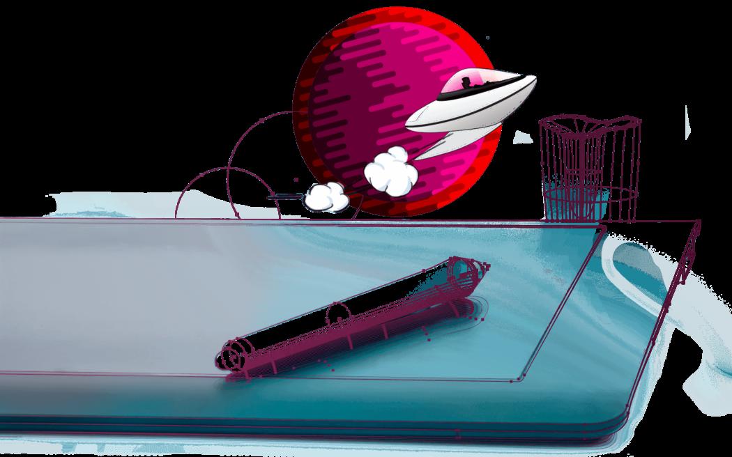 Kosmiczni.com ilustracja wacom