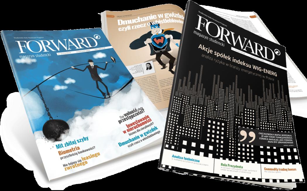 Magazyn Forward projekty okładki i skład magazynu