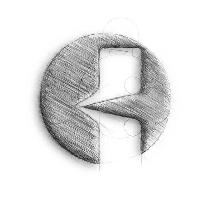identyfikacja logo kosmiczni szkic