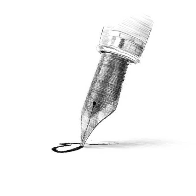 ilustracja pióro szkic